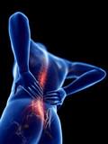 3d rendered illustration of a man having backache - 230405252