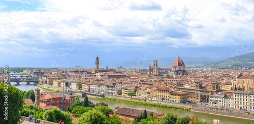 Panoramic view of Florence from Michelangelo Square - 230420408