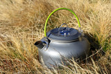 Tourist kettle in grass - 230421400