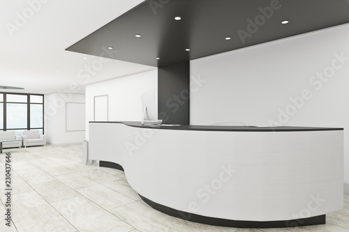 Leinwanddruck Bild Clean office lobby