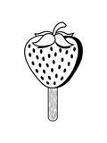 stiel eis eiscreme erdbeere fruchtig lecker obst beeren hunger essen gesund naschen kochen marmelade clipart comic cartoon - 230439268