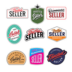 recommended and trusted seller vintage badge design template