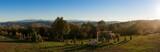 Panoramic view of the surroundings of Ghelari village, autumn in Romania - 230458632