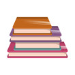 library books isolated icon - 230464832