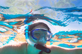 Woman at snorkeling in Red Sea, Egypt - 230467810