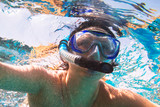 Woman at snorkeling in Red Sea, Egypt - 230467844
