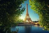 Seine in Paris with Eiffel tower - 230474001