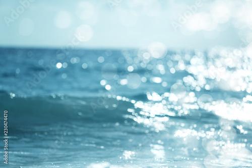 woda z tropikalnego morza, bokeh