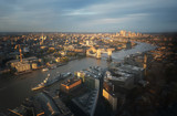 London aerial view with Tower Bridge, UK - 230474800