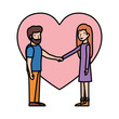 couple with heart love avatar character