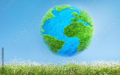 green Earth 3D illustration - 230483463