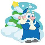 Santa Claus. Vector character Santa Claus.