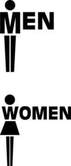 WC Männer - Frauen © Luuk