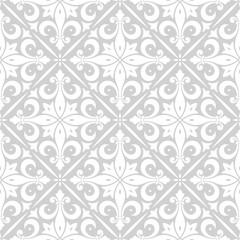 Seamless floral wallpaper pattern. Vector vintage pattern.