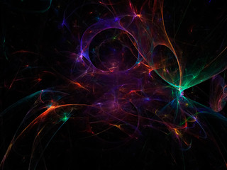 digital abstract fractal, creative design, magic