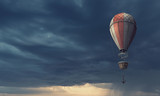 Air balloon in sky. Mixed media - 230529411