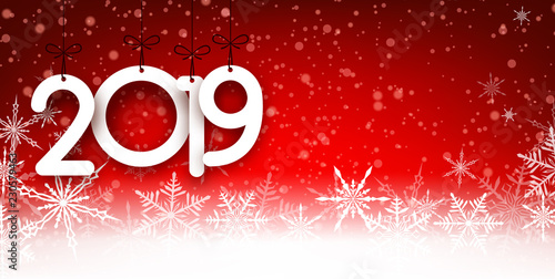 Red 2019 New Year background...