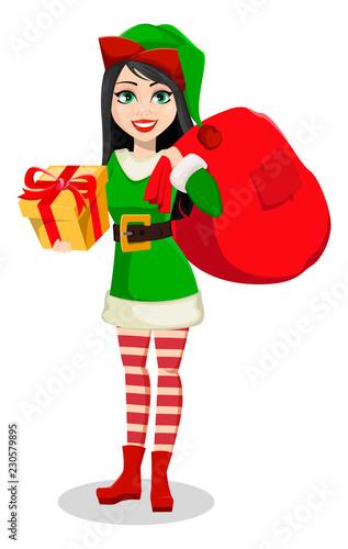 Beautiful woman in costume of Elf - 230579895