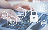 cybersecurity and personal data protection online, cyber security on internet, gdpr - 230581205