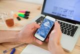 login access with fingerprint on smartphone - 230581498