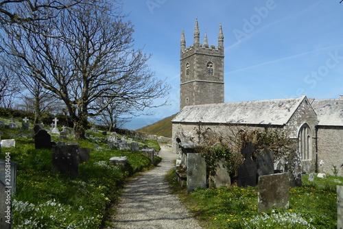 Leinwanddruck Bild Morwenstow Church, Cornwall