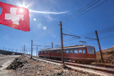Gornergrat train in Swiss Alps, Zermatt area, Switzerland - 230582017