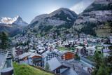 Zermatt village with peak of Matterhorn in Swiss Alps - 230582294