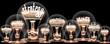Leinwanddruck Bild - Light Bulbs Concept