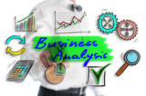 Business analysis concept shown by a man - 230598482