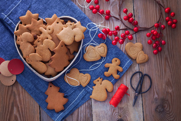homemade Christmas gingerbreads