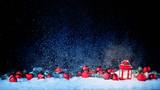 Weihnachtshintergrund mit Laterne - 230609451