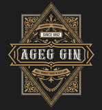 Gin label. Vintage style - 230614434