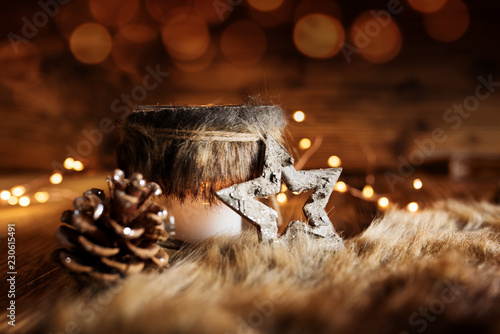 Leinwanddruck Bild Christmas decoration in country house style