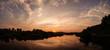 Sunset panorama in Hampi India