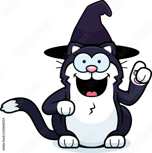 Cartoon Little Witch Cat Idea