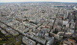 wide view of Paris in France from Eiffel Tower - 230659040