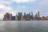 skyline of New York from river Hudson