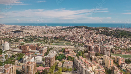Cityscape of Barcelona at sunny day. Aerial view - 230670446