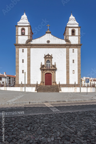 Igreja de Santa Maria da Devesa Church, the mother church of Castelo de Vide, Alto Alentejo, Portugal - 230678272