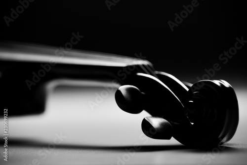 electronic violin on a black background - 230699232