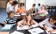 Professor and elementary age children - 230704208