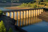 Bridge over Requejada reservoir, mountains of Palencia, Spain