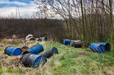 Barrels of toxic waste in nature - 230717032