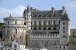 """Leinwanddruck Bild - Château Royal d'Amboise surplombe la Loire, """"Château de la Loire"""", département d'Indre-et-Loire, France"""