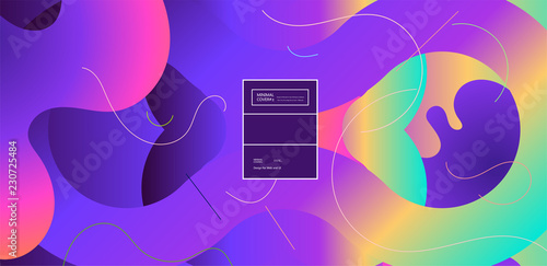 Fluid color background. Liquid shape . Eps10 vector. - 230725484