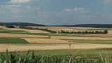 Beautiful panorama shot over fields in Bavaria near Mendorf in summer, Germany. - 230727477