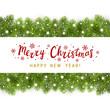 Christmas tree border with holiday decor