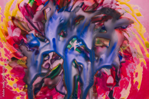 exciting color abstraction painted with watercolors different beautiful combinations - 230762082