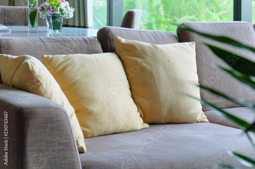 Detail of sofa in living room - 230763667