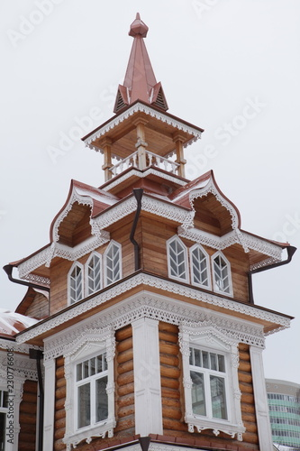 Wooden house in Khimki city (Moscow, Russia) - 230776608
